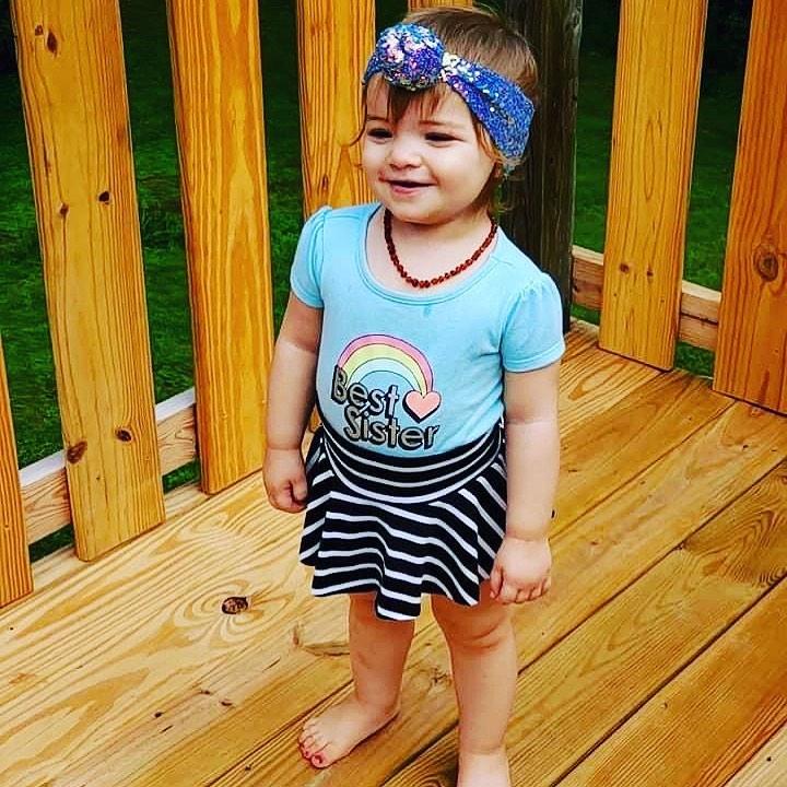 @ria9 looking adorable as ever in her striped skirted bummies🤍 #smallshop #bummielove #stripes #cutekidsfashion…